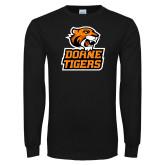 Black Long Sleeve T Shirt-Thomas Doanes Tigers