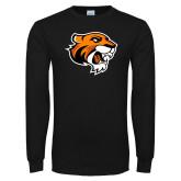 Black Long Sleeve T Shirt-Thomas Tiger Head