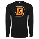 Black Long Sleeve T Shirt-Stylized D