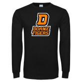 Black Long Sleeve T Shirt-D Doane Tigers
