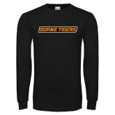 Black Long Sleeve T Shirt-Doane Tigers