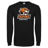 Black Long Sleeve T Shirt-Basketball