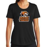 Ladies Syntrel Performance Black Tee-Thomas Doanes Tigers
