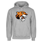 Grey Fleece Hoodie-Thomas Tiger Head