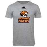 Adidas Sport Grey Logo T Shirt-Thomas Doanes Tigers