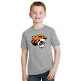 Youth Grey T Shirt-Thomas Tiger Head