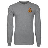 Grey Long Sleeve T Shirt-Thomas Doanes Tigers