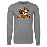 Grey Long Sleeve T Shirt-Thomas Doane