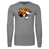 Grey Long Sleeve T Shirt-Thomas Tiger Head