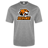 Performance Grey Heather Contender Tee-Thomas Doane