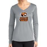 Ladies Syntrel Performance Platinum Longsleeve Shirt-Thomas Doanes Tigers
