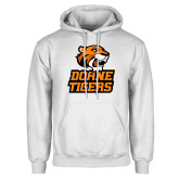 White Fleece Hoodie-Thomas Doanes Tigers