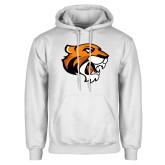 White Fleece Hoodie-Thomas Tiger Head