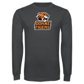 Charcoal Long Sleeve T Shirt-Thomas Doanes Tigers