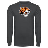 Charcoal Long Sleeve T Shirt-Thomas Tiger Head
