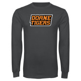 Charcoal Long Sleeve T Shirt-Doane Tigers Stacked