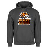 Charcoal Fleece Hoodie-Thomas Doanes Tigers
