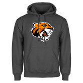 Charcoal Fleece Hoodie-Thomas Tiger Head