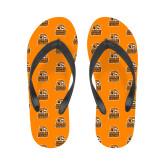 Ladies Full Color Flip Flops-Thomas Doanes Tigers