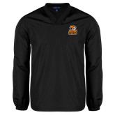 V Neck Black Raglan Windshirt-Thomas Doanes Tigers