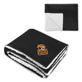 Super Soft Luxurious Black Sherpa Throw Blanket-Thomas Doanes Tigers