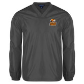 V Neck Charcoal Raglan Windshirt-Thomas Doanes Tigers