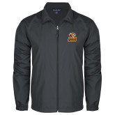 Full Zip Charcoal Wind Jacket-Thomas Doanes Tigers