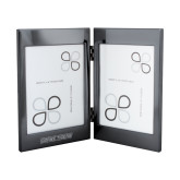 Black Nickel Double Photo Frame-Doane Tigers Engraved