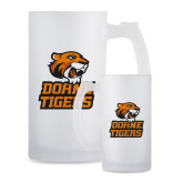 Full Color Decorative Frosted Glass Mug 16oz-Thomas Doanes Tigers