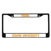Metal License Plate Frame in Black-Doane Tigers