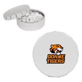 White Round Peppermint Clicker Tin-Thomas Doanes Tigers