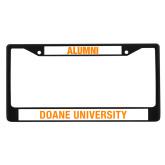 Alumni Metal License Plate Frame in Black-Doane Tigers