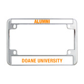 Metal Motorcycle License Plate Frame in Chrome-Doane Tigers