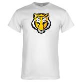 White T Shirt-Tiger Head