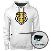 Contemporary Sofspun White Hoodie-Tiger Head