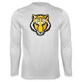 Syntrel Performance White Longsleeve Shirt-Tiger Head