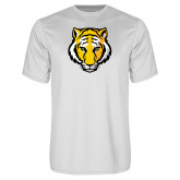 Performance White Tee-Tiger Head