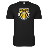 Next Level SoftStyle Black T Shirt-Tiger Head