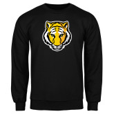Black Fleece Crew-Tiger Head