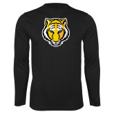 Performance Black Longsleeve Shirt-Tiger Head