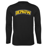 Performance Black Longsleeve Shirt-Wordmark