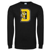 Black Long Sleeve TShirt-D w/ Tiger Head