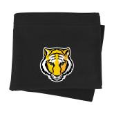 Black Sweatshirt Blanket-Tiger Head