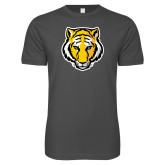 Next Level SoftStyle Charcoal T Shirt-Tiger Head