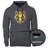 Contemporary Sofspun Charcoal Heather Hoodie-Tiger Head