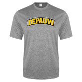 Performance Grey Heather Contender Tee-Wordmark