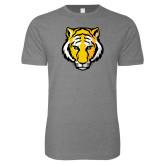 Next Level SoftStyle Heather Grey T Shirt-Tiger Head
