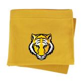 Gold Sweatshirt Blanket-Tiger Head