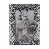 Silver Textured 4 x 6 Photo Frame-Wordmark Engraved