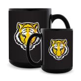 Full Color Black Mug 15oz-Tiger Head